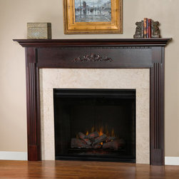 Allegheny Wood Fireplace Mantel - It's all in the little details for the Allegheny Mantel. The patterns echoed throughout the mantel would match perfect alongside a geometric, contemporary design.