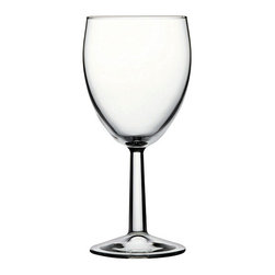 Hospitality Glass - 6H x 2 3/4T x 2 3/4B Banquet 8.25 oz Red Wine Glasses 48 Ct - Banquet 8.25 oz Red Wine