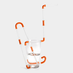 Constructible Drinking Straw - How fun does this look? Kids will love building their own unique straw creations with this create-your-own-straw kit. I would buy a few extras to keep on hand as fun, last-minute gifts.