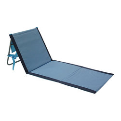 Lightspeed - Blue Lounger - Set of Two - This relaxing lounger features a padded ground mat and adjustable backrest for optimal comfort on the go. It is easily folded for convenient transportation and boasts a sturdy shoulder strap and zipper side pocket for everyday necessities.   Includes two loungers 56'' W x 21'' H PE foam Imported