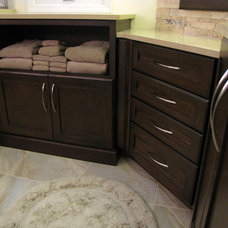 Bathroom Storage by Solid Surfaces Unlimited