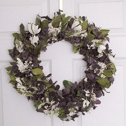 18 in. Chardonnay Eucalyptus Wreath - The 18-inch Chardonnay Eucalyptus Wreath is a sophisticated refreshing way to add character to your home. This wreath is 18 inches in diameter and is a beautiful addition to an entryway door or interior wall. The base is made with fragrant eucalyptus blended with Salal decorated with Sesame Bloom Integrafolia and layers of green. Natural beauty for your home!This product is designed for indoor use or outdoor use in a protected area. Direct exposure to sunlight and humidity over long periods of time will result in nominal fading. Also be careful when placing your wreath garland or swag over a heat source as high temperatures may result in damage. Follow these easy regulations and you'll have a maintenance-free product that adds plenty of seasonal charm.