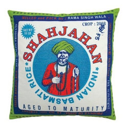 Koko Company Rice Shajahan Decorative Pillow - Shahjahan was the great emperor who built the Taj Mahal, and his power and mystery are captured here in the Koko Company Rice Shahjahan Decorative Pillow. Shahjahan literally means king of the world in Persian, and this printed cotton canvas pillow gives any room the royal treatment. We love the way it combines vintage charm (it's designed after an old Indian rice sack) with a vivid palette of green, blue, and orange. The cover is made of cotton canvas and is even machine washable - cold water temperature and gentle cycle are advised.About The Koko CompanyFor over 10 years, The Koko Company has been pouring heart and soul into bringing you a vibrant, diverse collection of pieces to suit your unique style. From pillows and bedding, to rugs and throws, every piece is both versatile and distinctive, each playing its own part in a grander, global vision. Located in Long Island City, NY, but influenced and inspired by an array of cultures and fashions, The Koko Company strives to bring the subtle elegance of natural fibers and organic design to your home accents.