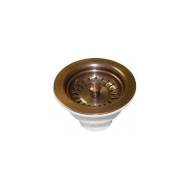 "3.5"" Basket Strainer In Solid Copper - Basket strainers designed to fit the Native Trails hand hammered copper kitchen sinks and bar/prep sinks. These Native Trails drains are high quality and matched for color."