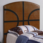 Coaster - Youth Twin Basketball Headboard - Casual style. Upholstered. Clean straight edges. 44 in. L x 2.5 in. W x 50 in. H. WarrantyCreate a fun look in the youth bedroom in your home with a sports headboard.