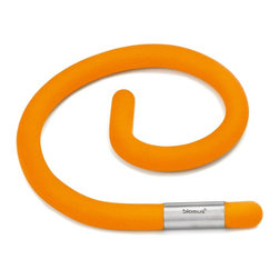 Blomus - Flex Flexible Trivet (Orange) - Color: OrangeCan be shaped into a spiral or question mark. Stainless steel accent. Perfect for large or small saucepans, plates, platters and much more. Can also unscrew a lid. Easy grip. Made from plastic and silicon. Imported from ItalyThe Blomus flexible trivet allows you to bend in any direction as far as is required.