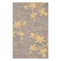 jefdesigns - Organic Modern Rug - Magnolia In Gray, 3.5'x5.5' - Gray matter. Handmade from pure New Zealand wool, this rug is handtufted with twisted details to give it visual interest. It puts a plush layer under your feet and has a modern color palette to blend with your contemporary interiors.