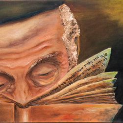 This Book Of The Law Shall Not Depart Out Of Thy Mouth - Oil Painting on stretched canvas