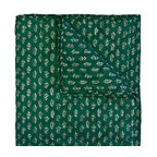 Divine Designs - Bela Quilt- Queen Green and White - This soft and cozy quilt, will add peaceful vibes to your bedroom.