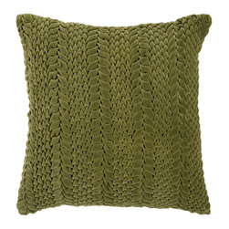 "Surya P0278-2222P 100% Cotton 22"" x 22"" Decorative Pillow - This solid textural pillow gives your space a fun, new look. The color avocado accents this decorative pillow. This pillow contains a poly fill and a zipper closure. Add this 22"" x 22"" pillow to your collection today. Filler: Poly Fiber. Shape: Square"