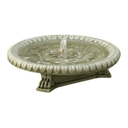 Campania - Longwood Garden Water Fountain, Verde - The claw-footed Longwood Garden Fountain is classic and sophisticated, it is the perfect center piece for any outdoor setting. The stylish basin sets on an extraordinary claw-footed pedestal. This wonderful fountain will transform any garden or patio into a favorite hang-out space.
