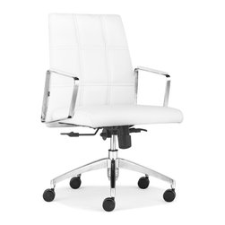 ZUO MODERN - Controller Low Back Office Chair White - Controller Low Back Office Chair White