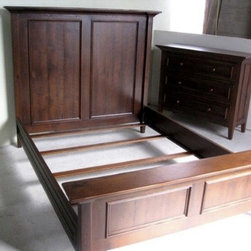 Queen Bed With Detailed Molding - Made by http://www.ecustomfinishes.com