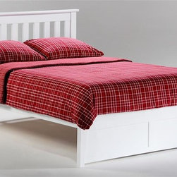 Night & Day Furniture - Rosemary Twin Platform Bed in White (Queen) - Choose Bed Size: QueenBed includes headboard, footboard, rail and slat. 100% Malaysian Rubberwood construction. Warranty: 10 years. White finishBed dimensions:. Twin Headboard: 41.3 in. W x 44.7 in. L (22 lbs.). Twin Footboard: 16.3 in. W x 42.4 in. L (11 lbs.). Full Headboard: 41.3 in. W x 59.7 in. L (30.9 lbs.). Full Footboard: 16.3 in. W x 57.3 in. L (15.4 lbs.). Queen Headboard: 41.3 in. W x 65.7 in. L (35.3 lbs.). Queen Footboard: 16.3 in. W x 63.3 in. L (22 lbs.). Eastern King Headboard: 41.3 in. W x 81.7 in. L (39.7 lbs.). Eastern King Footboard: 16.3 in. W x 79.4 in. L (26.5 lbs.)Have you ever noticed that rosemary will grow nearly anywhere, in nearly any environment? And it adds great taste to whatever it's combined with. That's one attractive, tough and versatile ingredient. Similarities to our Rosemary bed are absolutely striking.
