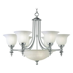 Dolan Designs - Dolan Designs 665-09 Richland Satin Nickel 9 Light Chandelier - Dolan Designs 665-09 Richland Satin Nickel 9 Light Chandelier