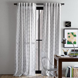 Cotton Canvas Faux Bead Window Panel
