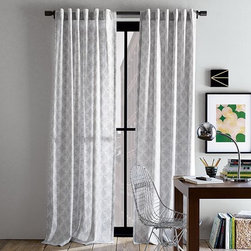 """Cotton Canvas Faux Bead Window Panel - For that cool, calm ambiance of Industrial Chic, these curtain panels provide just enough """"billowing in the breeze"""" but in the right color palette for a loft apartment."""