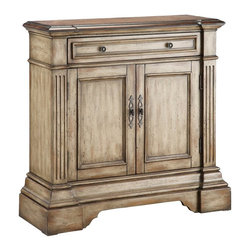 Stein World - Gentry 1 Drawer Chest - 28336 - Shop for Dressers from Hayneedle.com! Handsome and practical the Gentry 1 Drawer Chest wraps it all up in one stylish look. This cabinet features a slim upper drawer and has dual doors below that open to reveal an adjustable shelf. Squared column detailing sturdy molding and a highly antiqued finish complete the look. About Stein WorldStein World is dedicated to discovering and bringing to the market place the finest hand-painted products from around the world. With over 50 years of experience they have been able to develop not only the resources but true partnerships with quality manufacturers and artisans who make Stein World unique in the furniture industry today. Their commitment to you is to present only the highest quality furniture at prices that bring future family heirlooms into everyone's price range.