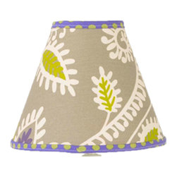 Cotton Tale Designs by N. Shelby - Periwinkle Lamp Shade - Why not go all the way? Complete your babys nursery theme with the Periwinkle Standard Lamp Shade. Uniquely designed to create an elegant and sophisticated nursery the lamp shade measures 8 x 9 x 4 inches. Spot clean only. Shade made in the USA. Neutral lampshade.