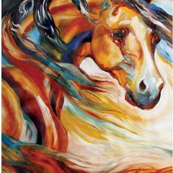 WL - Brown Horse with Mane Flowing in Wind Wall Art Painting Decoration - This gorgeous Brown Horse with Mane Flowing in Wind Wall Art Painting Decoration has the finest details and highest quality you will find anywhere! Brown Horse with Mane Flowing in Wind Wall Art Painting Decoration is truly remarkable.
