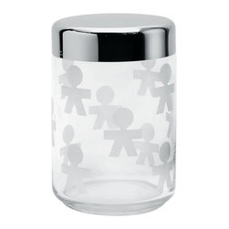 "Alessi - Alessi ""Girotondo"" Jar, Medium - Medium: 1 quart, 2 ounce capacity"