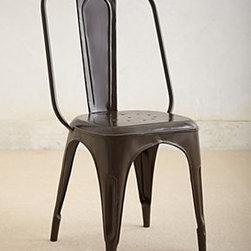 """Anthropologie - Redsmith Dining Chair - Iron sheet metal37""""H, 17.25""""WSeat: 18""""HImported"""