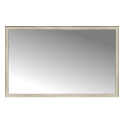 "Posters 2 Prints, LLC - 64"" x 40"" Libretto Antique Silver Custom Framed Mirror - 64"" x 40"" Custom Framed Mirror made by Posters 2 Prints. Standard glass with unrivaled selection of crafted mirror frames.  Protected with category II safety backing to keep glass fragments together should the mirror be accidentally broken.  Safe arrival guaranteed.  Made in the United States of America"