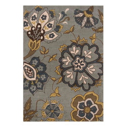 "Surya - Surya Monterey MTR-1007 (Blue, Dark Yellow) 7'10"" x 10'6"" Rug - Surya's newest collection, just in time for summer is ready to hit the floor! These rugs are made in Turkey, eight color-machine woven from 100% polypropylene. These vibrant, striking rugs are sure to take center stage."