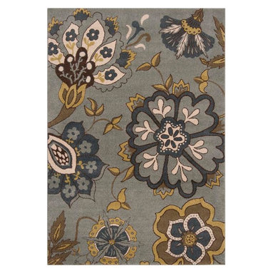 """Surya - Surya Monterey MTR-1007 (Blue, Dark Yellow) 7'10"""" x 10'6"""" Rug - Surya's newest collection, just in time for summer is ready to hit the floor! These rugs are made in Turkey, eight color-machine woven from 100% polypropylene. These vibrant, striking rugs are sure to take center stage."""
