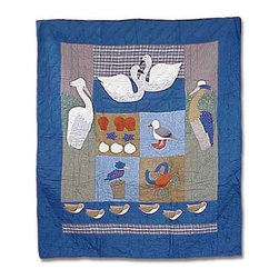 Patch Quilts - Beach Critters King Quilt - -Constructed of 100% Cotton  -Machine washable; gentle dry  -Made in India Patch Quilts - QKBEAC