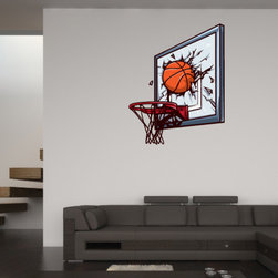Basketball Vinyl Wall Decal BasketballUScolor010; 36 in. - Vinyl Wall Decals are an awesome way to bring a room to life!