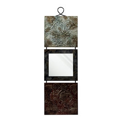 "StyleCraft - StyleCraft Transitional Wall Art X-SD45114IW - Metal wall hanging features two square panels with graceful raised, embossed designs, hand finished in multicolor. Square center panel features a mirror to make this metal wall plaque useful in so many places! Iron frame features self hanger at top. Overall size: 12"" wide, .75"" deep, 41.25"" high. Convenient hanging hooks attached."