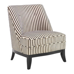Armen Living - Jester Armless Tuxedo Fabric Club Chair - Great looking tuxedo pattern on this chair adds to the contemporary styling. Extremely comfortable, with ample amounts of 1.8 density foam padding. Armen Living is the quintessential modern-day furniture designer and manufacturer. With flexibility and speed to market, Armen Living exceeds the customer s expectations at every level of interaction. Armen Living not only delivers sensational products of exceptional quality, but also offers extraordinarily powerful reliability and capability only limited by the imagination. Our client relationships are fully supported and sustained by a stellar name, legendary history, and enduring reputation. The groundbreaking new Armen Living line represents a refreshingly innovative creative collaboration with top designers in the home furnishings industry. The result is a uniquely modern collection gorgeously enhanced by sophisticated retro aesthetics. Armen Living celebrates bold individuality, vibrant youthfulness, sensual refinement, and expert craftsmanship at fiscally sensible price points. Each piece conveys pleasure and exudes self expression while resonating with the contemporary chic lifestyle.