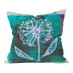 DENY Designs - Elizabeth St Hilaire Nelson Dandelion Blooms Throw Pillow - Wanna transform a serious room into a fun, inviting space? Looking to complete a room full of solids with a unique print? Need to add a pop of color to your dull, lackluster space? Accomplish all of the above with one simple, yet powerful home accessory we like to call the DENY throw pillow collection! Custom printed in the USA for every order.