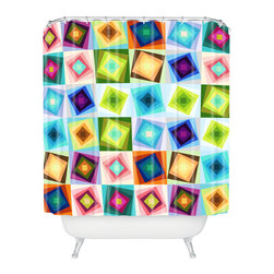 DENY Designs - Fimbis Raizo Shower Curtain - Who says bathrooms can't be fun? To get the most bang for your buck, start with an artistic, inventive shower curtain. We've got endless options that will really make your bathroom pop. Heck, your guests may start spending a little extra time in there because of it!