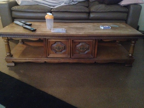 help refinish coffee table