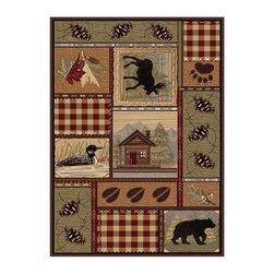 Tayse Rugs - Lodge Rug in Brown (10 ft. 3 in. L x 7 ft. 10 in. W (36 lbs.)) - Choose Size: 10 ft. 3 in. L x 7 ft. 10 in. W (36 lbs.)Rectangular shape. Designed with the modern sportsman in mind. Durable and easy to care. Care: Vacuum and spot clean. Pile height: 0.39 in.. Made from polypropyleneIt is comprised of vivid imagery that will remind you of the simple joy that comes with getting away from civilization. So heed the call of the great outdoors and enjoy a celebration of nature.