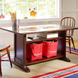 Hayden Storage Play Table - A hybrid storage table and desk is a smart space saver that can grow with your child and be a functional study space even as they get older.
