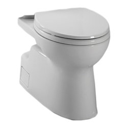 Toto - Toto CT474CEFG#11 White Vespin II Two-Piece High-Efficiency Toilet Bowl, 1.28GPF - The Vespin series features a contemporary design and skirted styling that will make a sleek, subtle addition to any bath.