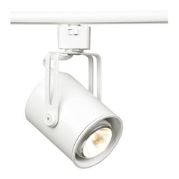 """Juno - Transitional LED Juno Mini Flatback Halogen Track Light - Contemporary track lighting adds the beauty of direct lighting in any home. This flat back track bullet has a white baffle and is designed specially to utilize LED bulbs. White finish. White baffle. One 6.5 watts LED PAR16 bulb included.  White finish.   White baffle.   Shown with halogen bulb (not included).   Include 6.5 watt PAR20 LED bulb.  Comparable to a 50 watt incandescent bulb.   On/Off switch.   Head 3"""" wide and 3 3/4"""" deep."""