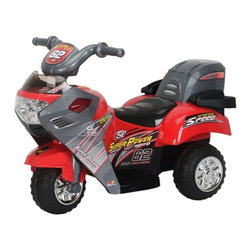 Best Ride On Cars - Best Ride On Cars Lil Motorcyle Battery Powered Riding Toy - Red Multicolor - 26 - Shop for Tricycles and Riding Toys from Hayneedle.com! For those toddlers with fast and furious aspirations the Lil Motorcycle - Hot Red gives them the thrill of the chase and an appreciation for superior engineering at a bit safer speed and hopefully less fury. These riding toys are full of features that will make them feel like the real thing. Your little one will love the working headlight and four different kinds of music. You'll love that this riding toy travels at a safe speed of only two and a half miles per hour with a sturdy stable construction that your child will feel secure on. And the rear storage box makes this riding toy perfect for taking trips to the park allowing you to keep a snack jacket or toy on hand for when you need it. Its 6V battery has plenty of juice to keep the fun going up to an hour and a half after each 3-4 hour charge. Additional Features Plastic body construction 6V battery and charger included Battery runs for 1-1.5 hours after each 3-4 hour charge Reverses and max speed is 2.5 mph Weight: 20.72 lbs. About Best Ride On CarsRealizing that an active childhood leads to a long healthy life Best Ride On Cars was formed with the admirable goal of helping kids enjoy every moment of their childhood through safe and active play. Producing a huge selection of high-quality toys for all age groups Best Ride On Cars helps bring families together through interactivity. Specializing in battery operated cars jeeps motorcycles and ATVs Best Ride On Cars has also grown to develop electric scooters bounce houses and even weight scales.