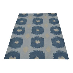 1800-Get-A-Rug - Durie Kilim Sky Blue Hand Woven Flat Weave Oriental Rug Sh17192 - The Flat Weave hand woven rug is a type of area rug created by weaving wool onto a foundation of cotton warps on a loom. The Flat Weave rug offers the same beauty and durability as the classical thick-pile Oriental rugs, but without the telltale thick pile often spotted in other rugs. This gives the Flat weave a thin and flat appearance which resembles the Needlepoint, making them wonderfully ideal choices as accent rugs, wall hangings, or to drape over furniture and staircases.