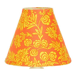 Cotton Tale Designs by N. Shelby - Zumba Lamp Shade - Why not go all the way? Complete your babys nursery theme with the Sumba Standard Lamp Shade. Uniquely designed to create an elegant and sophisticated nursery the lamp shade measures 8 x 9 x 4 inches. Spot clean only. Shade made in the USA. Neutral lampshade.