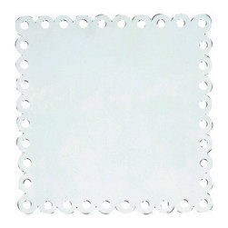 Jubilee Collection - Square Dot Magnet Board - White - Material: metal. 20 x 20 in.