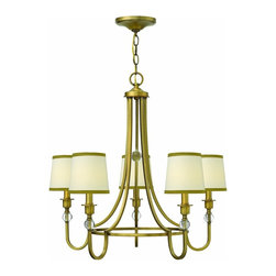 Hinkley Lighting - 4875BR Morgan Single Tier Chandelier, Brushed Bronze - Transitional Single Tier Chandelier in Brushed Bronze from the Morgan Collection by Hinkley Lighting.