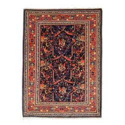 eSaleRugs - 4' 6 x 6' 2 Varamin Persian Rug - SKU: 22051717 - Hand Knotted Varamin rug. Made of Kork Wool. Over 80 Years(Antique).