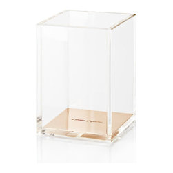 KATE SPADE - Kate Spade Gold Acrylic Pencil Cup in Hot Pink Box - Give your pencils a sweet home with this glamorous desk accessory! We have all the other matching products available too!