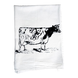 The Coin Laundry - Cow Cotton Kitchen Towel - Why buy the milk when you can get the whole cow?