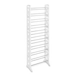 "Whitmor - Floor Shoe Tower 30 Pair - Whitmor 30 Pair White Resin Floor Shoe Tower - Dimensions: 12"" x 22.5"" x 62.25"" - Easy no tool assembly.  This item cannot be shipped to APO/FPO addresses. Please accept our apologies."