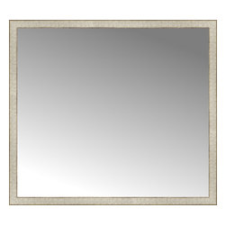 """Posters 2 Prints, LLC - 48"""" x 43"""" Libretto Antique Silver Custom Framed Mirror - 48"""" x 43"""" Custom Framed Mirror made by Posters 2 Prints. Standard glass with unrivaled selection of crafted mirror frames.  Protected with category II safety backing to keep glass fragments together should the mirror be accidentally broken.  Safe arrival guaranteed.  Made in the United States of America"""